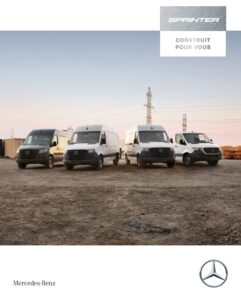 My20 Sprinter Brochure French Front Cover