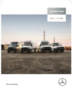 My20 Sprinter Brochure English Front Cover
