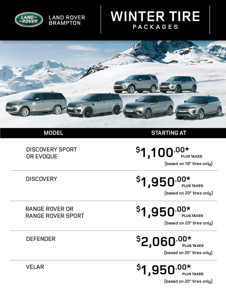 Land rover Winter Tire Packages