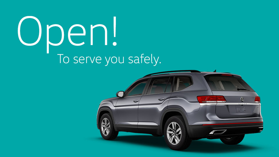 We're Open during COVID-19 at Volkswagen St. John's