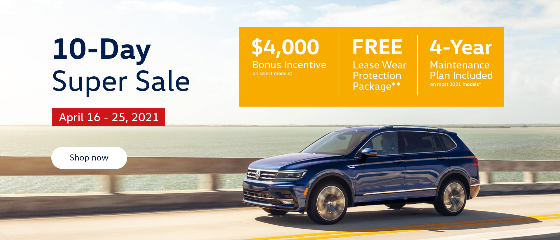 Cowell Volkswagen 10-Day Super Sale